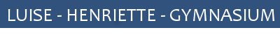 Website des Luise-Henriette-Gymnasiums Logo